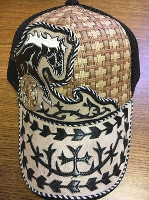Leather Western Caps