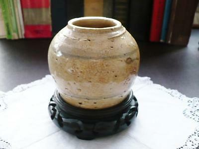 Antique 17thc Chinese Ming Dynasty Kitchen Pottery Ginger Jar
