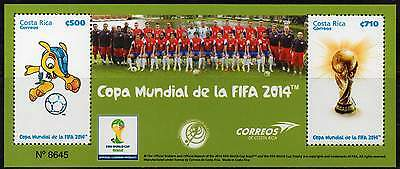 COSTA RICA 2014. Coupe du Monde de Football. World Soccer Cup (bloc)