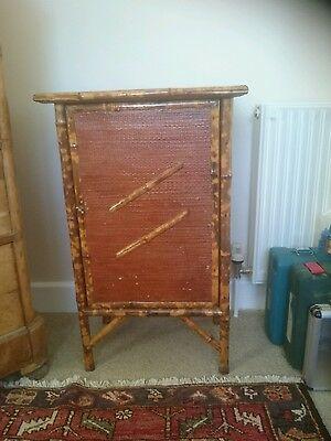 Bamboo Cupboard, cabinet, Victorian, antique.
