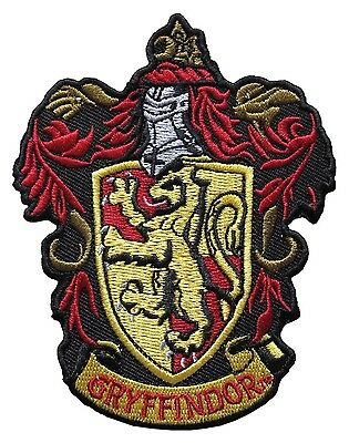Harry Potter Gryffindor Crest Embroidered Patch Officially Licensed