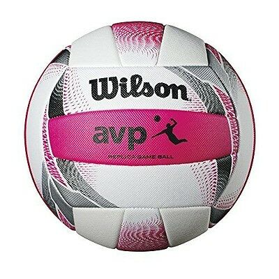 Wilson AVP II Replica Beach Volleyball White/Pink