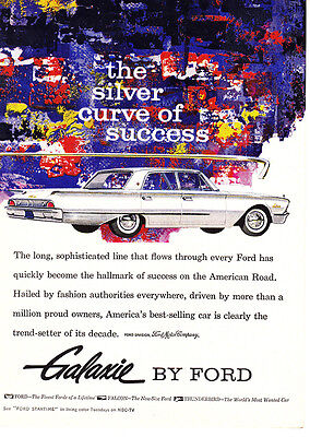 1960 Ford Galaxie: Silver Curve of Success Print Ad (24270)