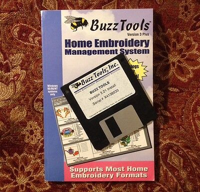 Buzz Tools Home Embroidery Management System V3 Plus Floppy Disk