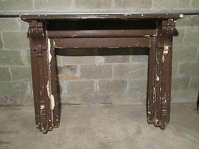 ~ Antique Oak Fireplace Mantel 60 X 46.75 ~ Architectural Salvage ~