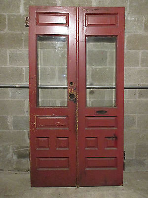 ~ ANTIQUE DOUBLE ENTRANCE FRENCH DOORS 43.75 x 83.5 ~  ARCHITECTURAL SALVAGE ~