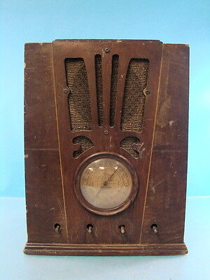 Antique Silvertone Tombstone Radio Multiband Receiver Gold Dial Art Deco Style