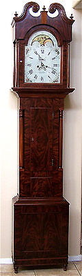 Rare GRIFFITH OWEN Tall Case Grandfather Clock, James Wilson Dial c.1790-1800