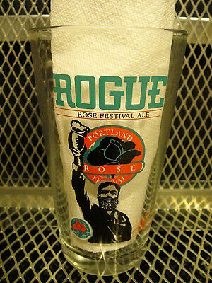 ROGUE BREWING BREWERY RARE ~ Portland Oregon Rose Festival Ale BEER Pint Glass X
