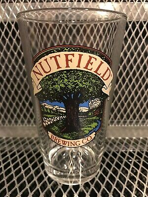 NUTFIELD ALE & STEAK HOUSE BREWERY Defunct RARE Beer Pint Glass New Hampshire X