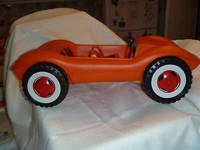 Vintage 1970's Orange Barbie Car Convertible Made in W Germany