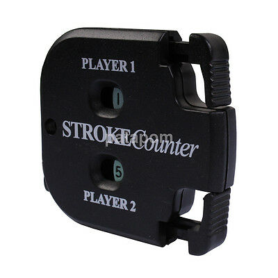 NEW Square Golf Shot Stroke Score Counter Keeper Golfing with Key Chain Black