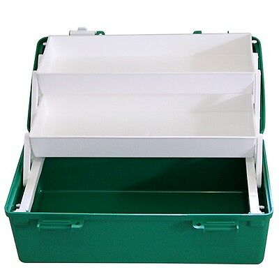 Empty First Aid Box 2 Tray Medium in Green