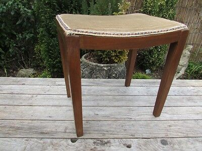 Vintage Antique Wooden Dressing Table Stool / Pianno Stool