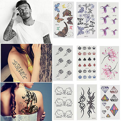 Large Temporary Tattoo Sticker Removable Waterproof 3D Fake Arm Body Art