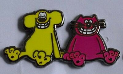 ***NEW*** Roobarb and Custard enamel badge. Retro, Kids, Childrens TV.