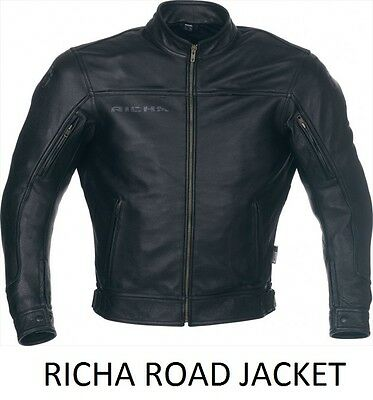 Richa Road Motorcycle Classic Retro Jacket with CE Armour