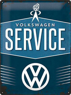VW Service reproduction vintage aged style metal sign