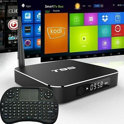 T95 S905 4K Android 5.1 Fully Loaded TV BOX PC Quad Core M8S KODI Free Keyboard