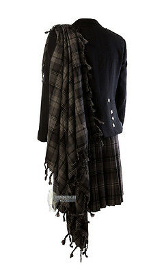 Deluxe Fly Plaid - Hamilton Grey - Wear With Your Kilt Outfit!
