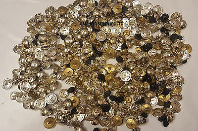New Military Buttons Various Regiments Job Lot 1kg Around 400 Buttons (A6)