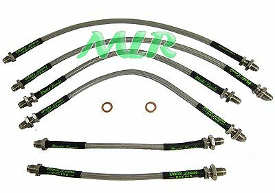 Sierra Cosworth 2Wd 4Wd Aeroquip Stainless Steel Braided Brake Lines Hoses Oe