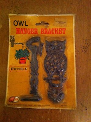 vintage Arjon owl-shaped hanger bracket swivels for hanging plants Hardware NIP