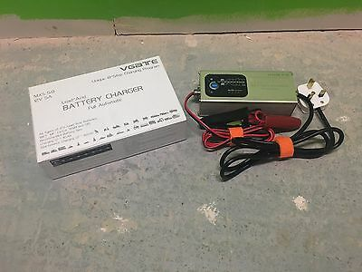 VGate MXS5 Automatic Battery 12v Charger, Wet, MF, Ca/Ca, AGM and GEL Batteries