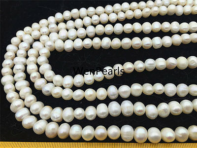 AA 8-9mm white potato freshwater pearls,large hole Pearls,Heirloom White Pearls