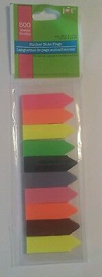 500 Sticker Note Flags Page Markers Labels Sticky Notes Index Bookmark