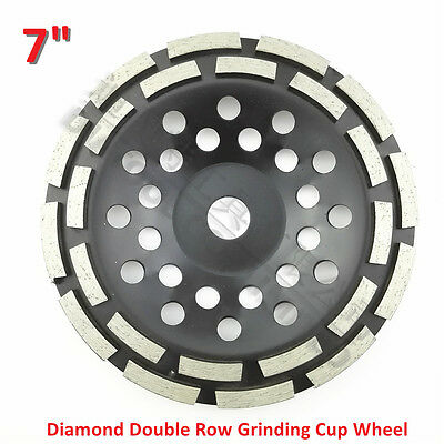 7 inch Diamond Double Row Grinding Cup Wheel 180MM concrete  Grinding disc