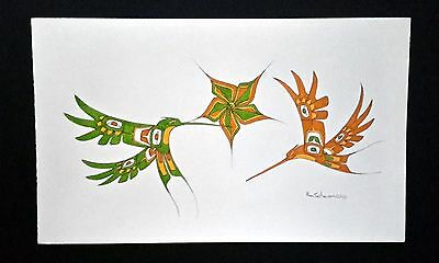 Signed original watercolored pen and ink drawing by Ron Solanas