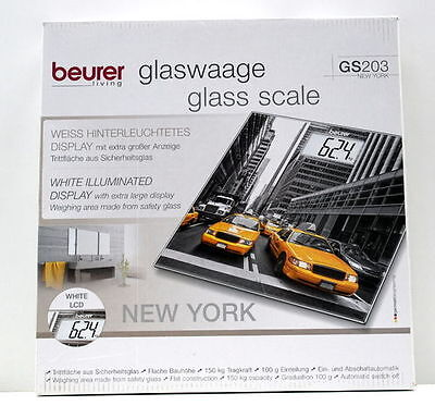 Beurer GS 203 New York Glaswaage