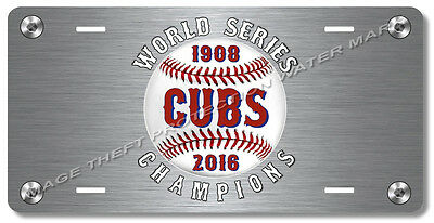 Chicago Illinois CUBS World Series Champions MLB Team License Plate Gift Dad Car