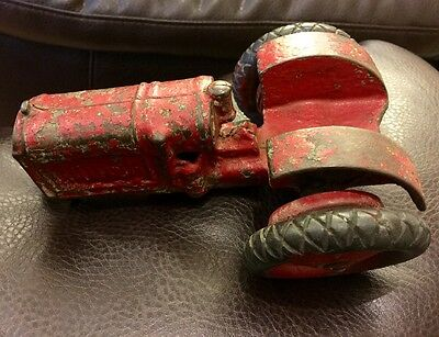 Vintage Cast Iron Toy Tractor For Restoration