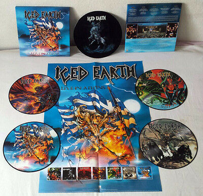 Iced Earth - Alive In Athens 5 LP Picture Disc Box and Poster Century Media 1999