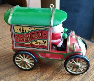 """Hallmark 1981 """"S. Claus & Co. Rooftop Deliveries"""" Christmas Ornament"""