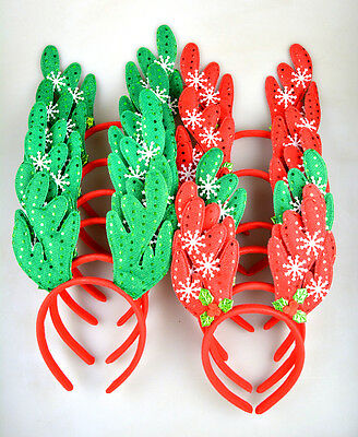 Cute Christmas Holiday Rudolph Headbands Costume Party Favors 12 pcs