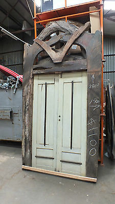 Restaurant bali feature doorway approx 2.8x1.5m recycled boat ,sleeper, plough
