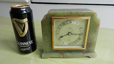"Quality Elliott Of London Art Deco Onyx Clock. Retailed By ""sorley Of Glasgow """