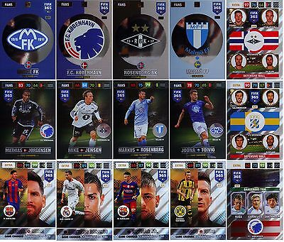 FIFA 365 2017 Panini Adrenalyn XL LIMITED NORDIC ONLY Insert Cards #46 to #441