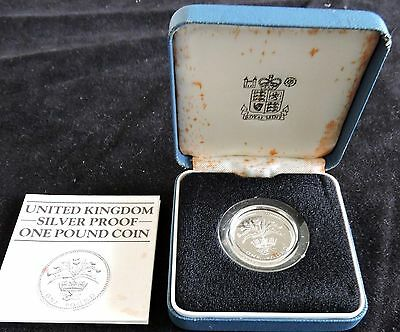 1984 Great Britain Silver Proof - **one Pound** - As Issued In Box