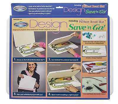 Bead Buddy Design Save and Go 16x12x1-Inch Built-In Perfect Bead Mat Terrific