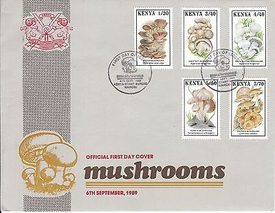 B07367 Kenia Kenya 486-490 FDC Pilze mushrooms