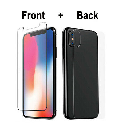 Front+Back Tempered Glass Screen Protector For iPhone 11 Pro XS MAX XR 8 7 6 SE