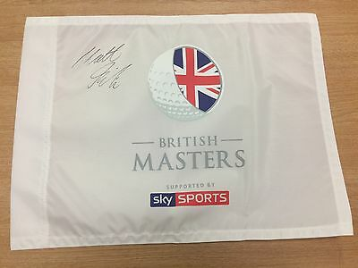 The British Masters Golf Flag Signed By Winner Matthew Fitzpatrick COA & Proof