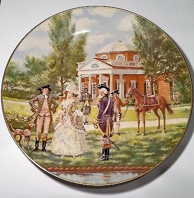 "AMERICAN COMMEMORATIVE COUNCIL GORHAM FINE CHINA - MONTICELLO - 11"" Plate U.S.A."