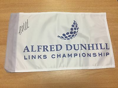 Andrew Johnston BEEF Signed DUNHILL Links 2016 Golf Flag With COA AND PROOF