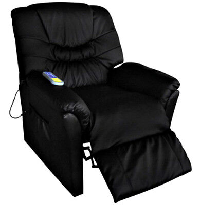 Chair Electric Massage Furniture Sofa Leather Recliner Lift Relax Black Cream