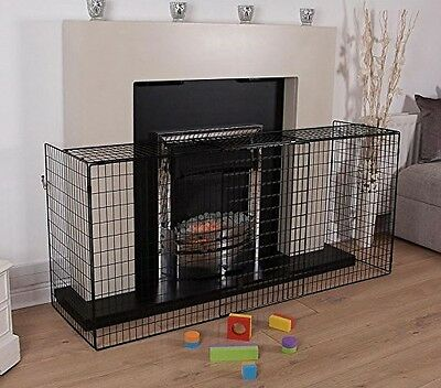 Fire Place Guard Screen Safety Baby Cover Child Large Extending Folding Fender